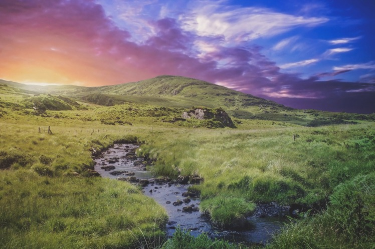 Ireland at twilight
